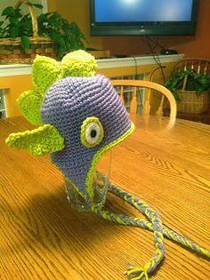 Crochet Pattern - Free Dragon/Sea Monster Hat Child Size :)
