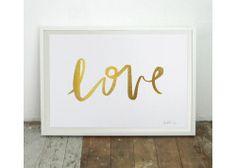 LOVE Gold Foil Print 2