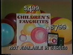 Children's Favorites album commercial From the early 80s, a mail-order album commercial of children's songs performed by The Jingleheimers! Available on record, cassette, and 8-track! 8-tracks were pretty much dead when this was aired, but for some reason these mail-order outfits kept producing them as late as 1988.