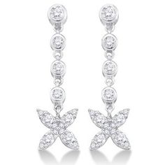 forev, gorgeous set, diamonds, diamond butterfli, beauti, dangle earrings, white gold, jewelri, butterfli earring