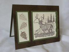 Handmade Masculine Deer Card