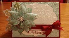 Vellum Poinsettia - Joyful Christmas christma card, joy christma