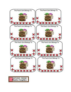 School- Behavior management PUNCH CARD! I think a variation of this would be a good motivator to keep kids engaged during testing too!