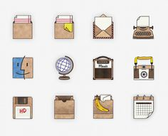 I'm obsessed with these hand-drawn computer icons from Nina Azzarello that you can use to spice up your standard computer desktop #computer #icons #desktop #tech