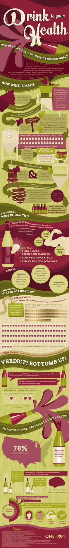 Drink to Your Health! – Wine Infographic