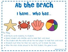 This is an ocean theme I have...Who has... game using addition as the focus. your students will