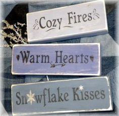 Snowflakes & kisses