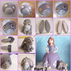 PART N° 2 Tutorial to make Clover the Rabbit from Sofia https://www.facebook.com/photo.php?fbid=458050887648076&set=pb.392169324236233.-2207520000.1382985187.&type=3&theater
