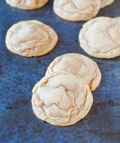 Soft and Chewy Sugar-Doodle Vanilla Cookies - Part soft sugar cookie, part chewy snickerdoodle, with tons of rich vanilla flavor!
