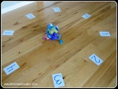 Dice and Beanbag Toss Counting/Number Identification Game