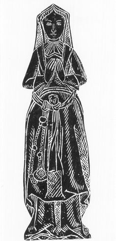 Ursula Allingham.  1522.  Hawstead, Suffolk, England