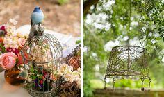 bird cage and basket chandelier