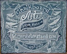 Chalkboard Art Sign for your Wedding. at the watermelonstand via Etsy.