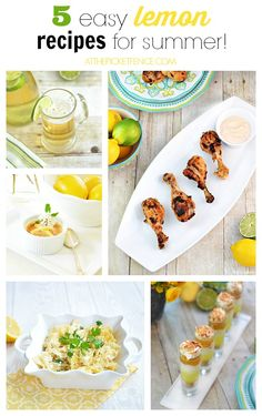 Five easy lemon recipes for summer from At the Picket Fence.com