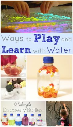 Ways to Play and Learn with Water Indoors -- number 9 is my favorite. Keeps the kids busy for a long time!!