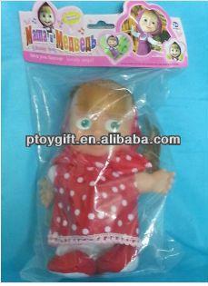 Russian Masha and the Bear Doll Toy Plush Walking Talking Masha