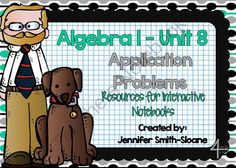 Algebra Real Life Application Projects Interactive Notebook Bundle from 4mulaFun on TeachersNotebook.com -  (72 pages)  - Algebra Real Life Application Projects Interactive Notebook Bundle