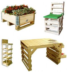 "Pallet Furniture lots of things to do with pallets! Pinned to ""It's a Pallet Jack"" by pamela"