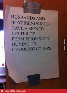 """Saw this notice at a paint shop."""
