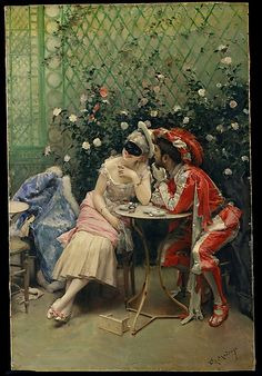 Raimundo de Madrazo y Garreta (Spanish, 1841–1920). Masqueraders, 1875–78. The Metropolitan Museum of Art, New York. Robert Lehman Collection, 1975 (1975.1.233)