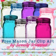 Free Mason Ball Jar Clip Art