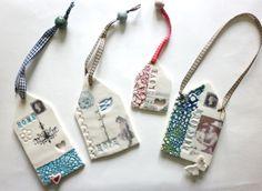 Vintage Inspired porcelain wall hangings