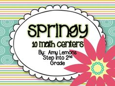 Springy Math Centers