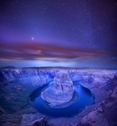Horseshoe Bend, Colorado River. Starry Bend. by Andrew Langdal.