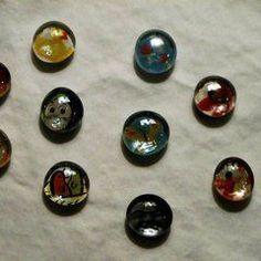 Glass Bead Fridge Magnets