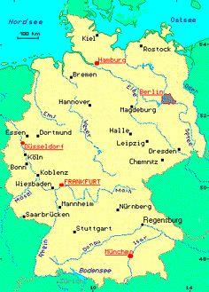 German Language   German language courses - Germany: map