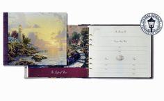 Thomas Kinkade® Sea of Tranquility Funeral Memorial Guest Register Book
