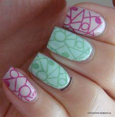 Geometric Stamping by colorsfrenzy - Nail Art Gallery nailartgallery.nailsmag.com by Nails Magazine www.nailsmag.com #nailart
