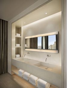 Inside 40 Bond, NYC. architecture. clean. interior. exterior. home design. modern. bathroom. white.
