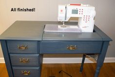 Purple Panda Quilts: Sewing Desk: A Transformation