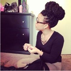 Sengalese twist - high bun
