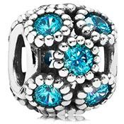 Pandora Teal Studded Lights Charm - this is gorgeous in person especially on Pandora's new teal bracelet