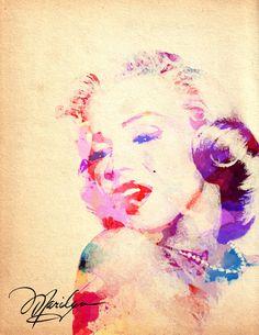 Marilyn Monroe Watercolor ~ by StaciaE