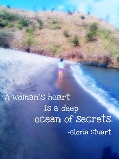 "Tattoo Ideas & Inspiration | Quotes & Sayings | ""A woman's heart is a deep ocean of secrets"""