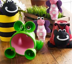 Clay Pot Critters! Perfect for flower beds.