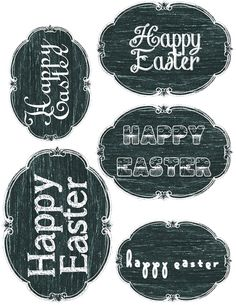 Chalkboard Easter Tags & Labels