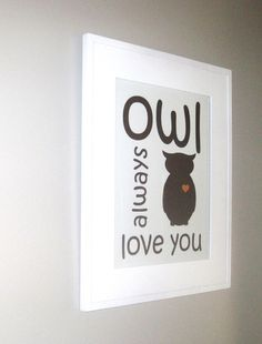 Owl Print Kids Wall Art Children's Art by pumpkinandbutterfly