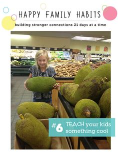 Happy Family Habit #6: Teach Your Kids Something Cool - party of an awesome series on how to be a happier family 21 days at a time.