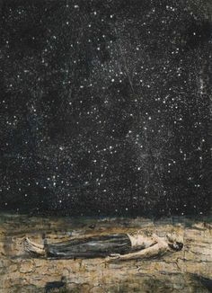 Starfall painted by Anselm Kiefer, 1995 I remember laying in the grass as a child looking at the stars with such a sense of wonder.