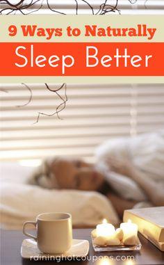 9 Ways To Naturally Sleep Better