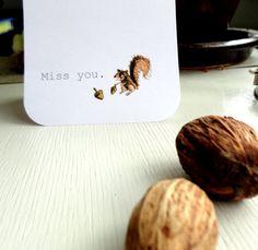 A squirrel card ^^