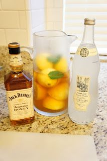 Spiked Arnold Palmers with Honey Jack Daniels.