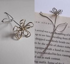 Wire Flowers for page markers