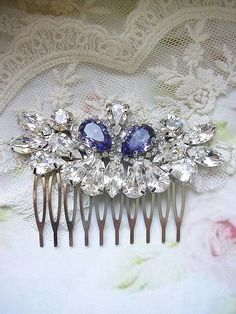 Wedding hair accessories Bridal hair comb vintage style by Hinuma, $49.00