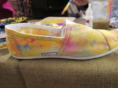 TOMS shoe decorating ideas. Awesome! @Missy Monaghan