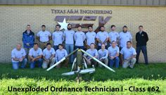 Congratulations to  the  members  of  Unexploded Ordnance Technician I class #62, graduating today.  For more information on TEEX UXO training, please visit http://teex.org/uxo.  #TEEX   #UXO